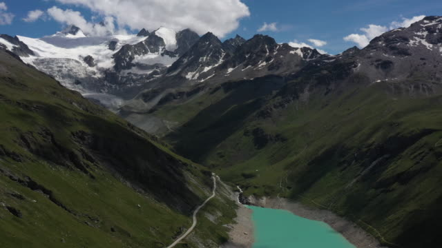 dam of moiry - lake stock videos & royalty-free footage