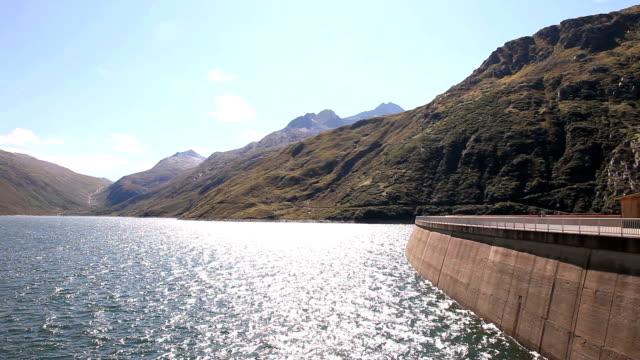 Dam on the Lukmanier Pass in Switzerland