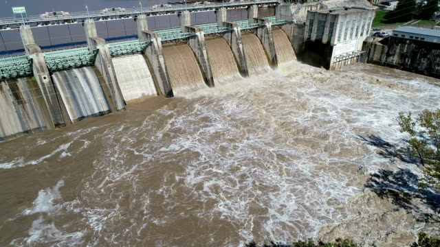 dam releases flood waters - dam stock videos and b-roll footage