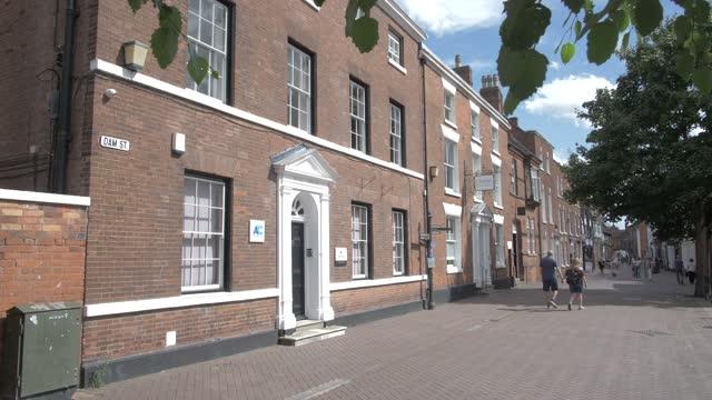 dam street on sunny day in summer, lichfield, staffordshire, england, united kingdom, europe - staffordshire england stock videos & royalty-free footage