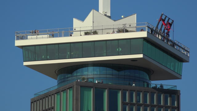a'dam tower, amsterdam, north holland, netherlands - 北ホラント州点の映像素材/bロール