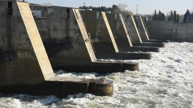 dam - rhone river stock videos & royalty-free footage