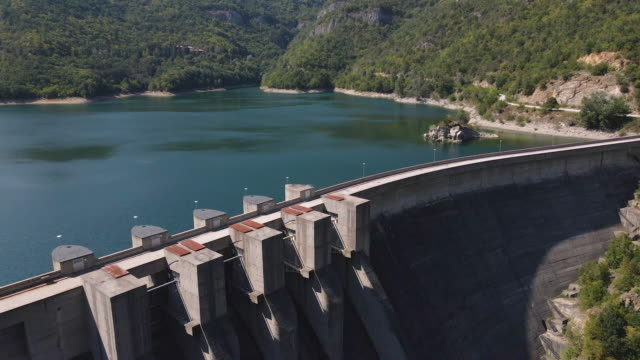 dam wall. infrastructure. - large stock videos & royalty-free footage
