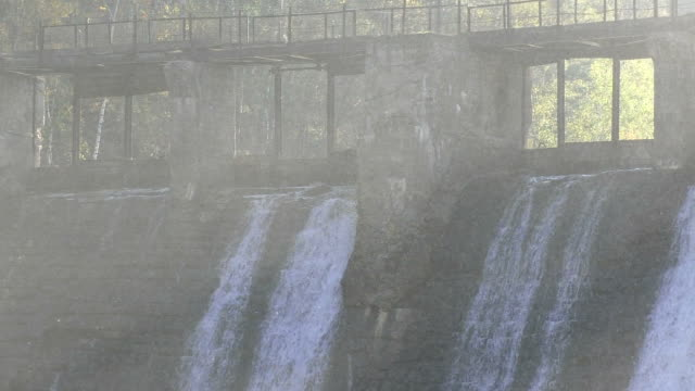 dam. waterfall - hydroelectric power stock videos & royalty-free footage