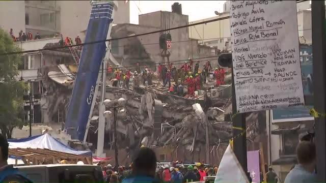 vídeos y material grabado en eventos de stock de ktla damage caused by 71 earthquake in mexico city on the anniversary of a deadly 80 quake that struck central mexico in 1985 a 71 magnitude... - terremoto