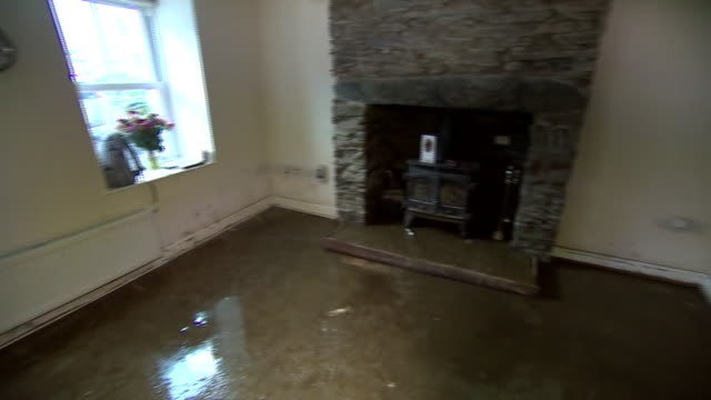 damage caused by flash flooding on the isle of man - rubble stock videos & royalty-free footage