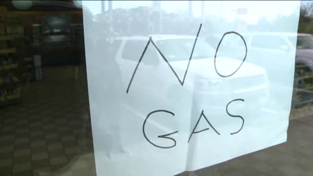 Damage in Nassau County on Long Island 14 Days After Hurricane Sandy Hit Gasoline Shortages Due to Sandy Causes Long Lines on November 12 2012 in...