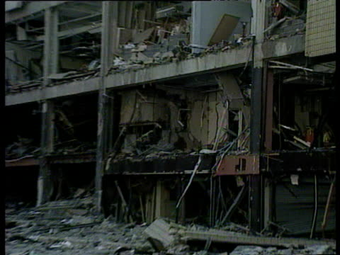 damage suffered to arndale center during ira manchester bombing 15 jun 96 - mailbox stock videos and b-roll footage