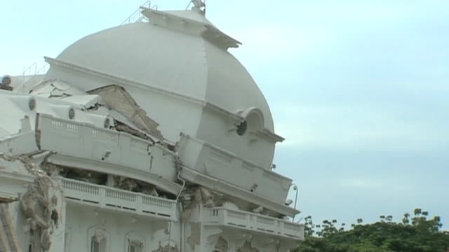 damage to building following haiti earthquake january 2010 - hispaniola stock videos & royalty-free footage