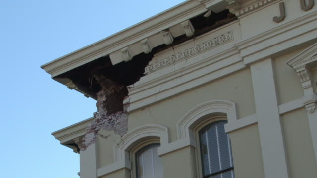 damage to city hall building from napa earthquake - stephenie hollyman stock videos & royalty-free footage