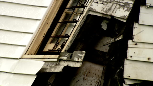 damage to wall of house following hurricane katrina available in hd. - hurricane katrina stock videos and b-roll footage