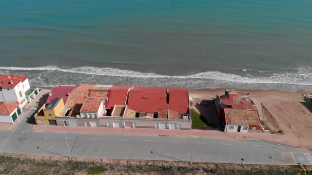 Damaged beach houses of Guardamar del Segura, Spain
