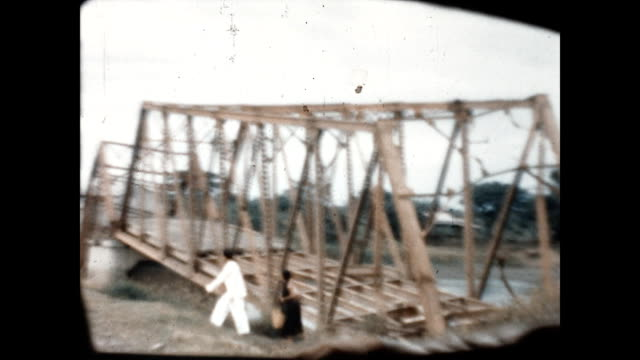 a damaged bridge in luzon at the end of wii - luzon stock videos & royalty-free footage