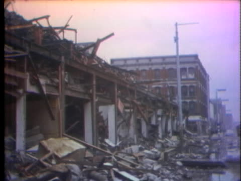 damaged buildings stand in belfast, northern ireland, in the aftermath of continued fighting between british troops and the irish republican army. - danger stock videos & royalty-free footage