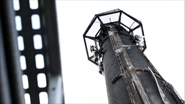 damaged cabling and telecommunications equipment is seen in the town of huddersfield, in northern england, after a telecoms mast was set alight at a... - telephone stock videos & royalty-free footage