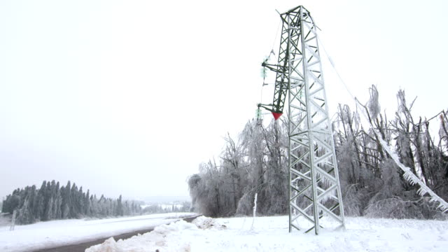damaged electricity pylon - power equipment stock videos & royalty-free footage