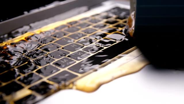 damaged laptop - damaged stock videos & royalty-free footage