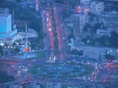 damascus roundabout at night - 2010 stock videos & royalty-free footage