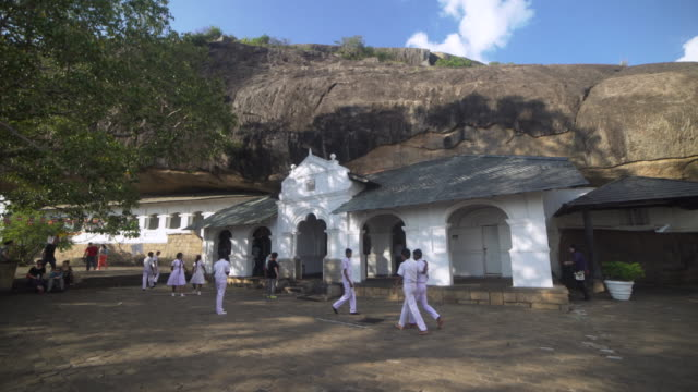 dambulla cave buddhist gold temple, sri lanka - buddhism stock videos & royalty-free footage