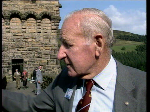 dambusters tribute in the peak district england derbyshire derwent valley g/a old raf lancaster bomber lr over g/a side more ditto pam lr more ditto... - lancaster bomber stock videos & royalty-free footage