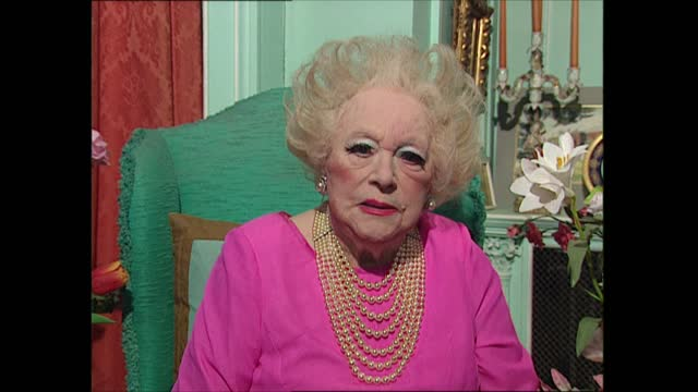 dame barbara cartland interview; england: hertfordshire: cartland sitting in chair before interview dame barbara cartland live interview sot. -... - sofa stock videos & royalty-free footage