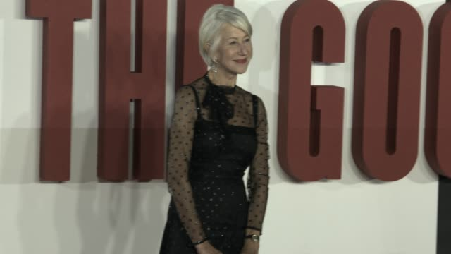 """dame helen mirren at """"the good liar"""" world premiere at bfi southbank on october 28, 2019 in london, england. - helen mirren stock videos & royalty-free footage"""
