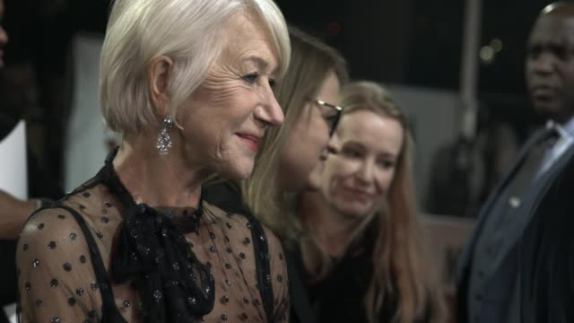 """dame helen mirren at """"the good liar"""" world premiere at bfi southbank on october 28, 2019 in london, england. - arts culture and entertainment stock videos & royalty-free footage"""