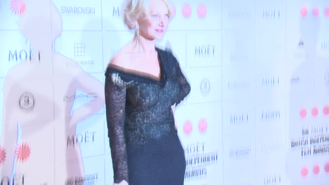 dame helen mirren at the moet british independent film awards 2014 at old billingsgate market on december 07 2014 in london england - audio electronics stock videos & royalty-free footage