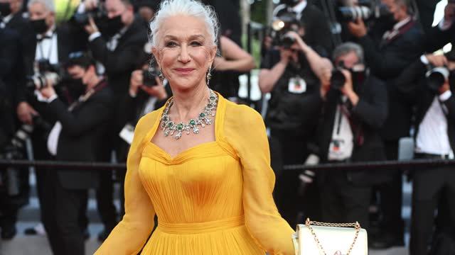 """dame helen mirren attends the """"annette"""" screening and opening ceremony during the 74th annual cannes film festival on july 6, 2021 in cannes, france. - helen mirren stock videos & royalty-free footage"""