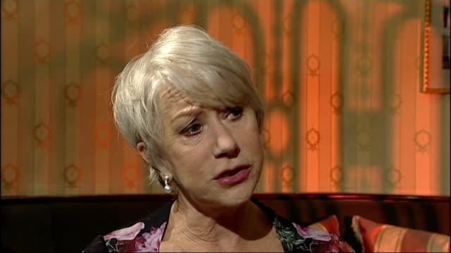 dame helen mirren reprises queen role in 'the audience' mirren interview sot - メアリー ナイチンゲール点の映像素材/bロール