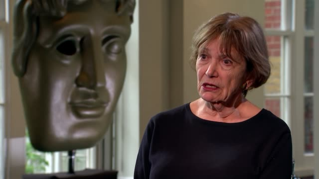 dame joan bakewell interview on being awarded bafta television fellowship; england: london: int dame joan bakewell interview sot - joan bakewell stock videos & royalty-free footage