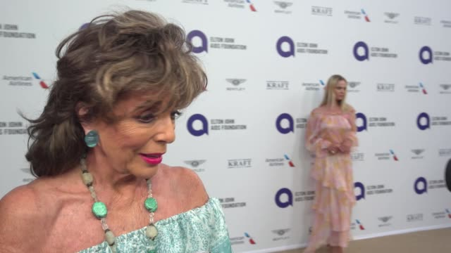 dame joan collins on why the elton john aids foundation is so important at elton john aids foundation's midsummer party on july 24, 2019 in antibes,... - elton john stock videos & royalty-free footage