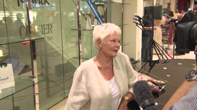 dame judi dench at shop with the stars at fenwick on april 10 2014 in london england - judi dench stock videos & royalty-free footage