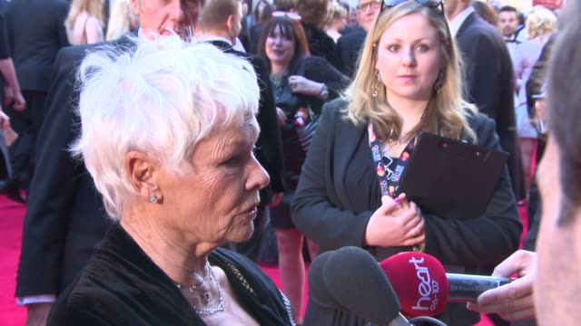 dame judi dench on being nominated for an oliver award, working with ben whishaw and the importance of theatre awards at the laurence olivier awards... - ben whishaw stock videos & royalty-free footage