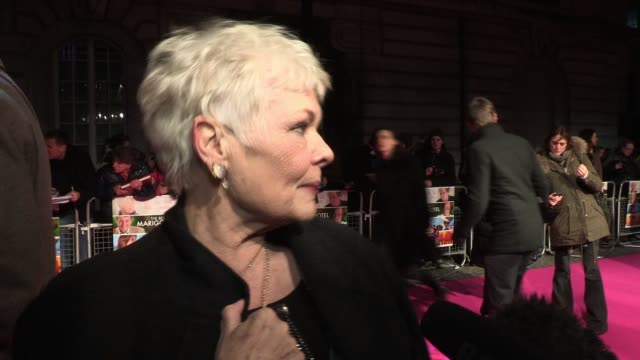 dame judi dench talks of what she would take on a long journey and her hopes for the future interview dame judi dench at the curzon mayfair on... - judi dench stock videos & royalty-free footage