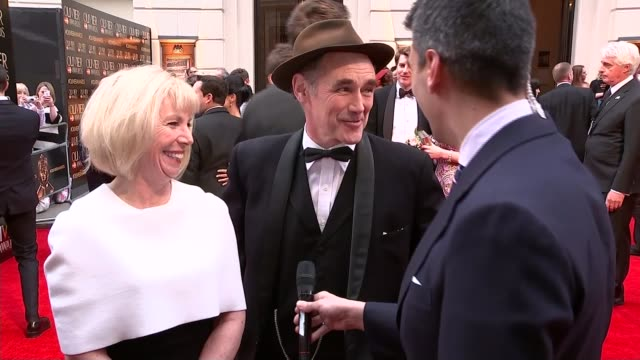 dame judi dench wins her eighth olivier award england london royal opera house ext claire van kampen interview and mark rylance interview sot - mark rylance stock-videos und b-roll-filmmaterial