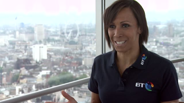 dame kelly holmes on how she's supporting all of the members of the team gb at bt tower on july 31 2012 in london england - bt tower london stock videos & royalty-free footage
