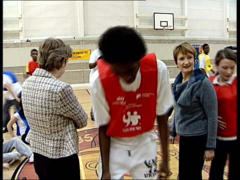 dame kelly holmes tessa jowell and ruth kelly photocall at camden school england london acland burghley school int dame kelly holmes tessa jowell mp... - sports champion stock videos and b-roll footage
