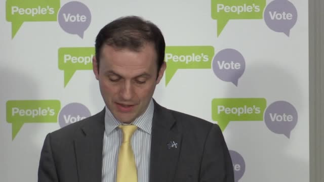 Dame Margaret Beckett Dominic Grieve MP and Stephen Gethins MP hold a press conference in support of a People's Vote on any Brexit deal approved by...