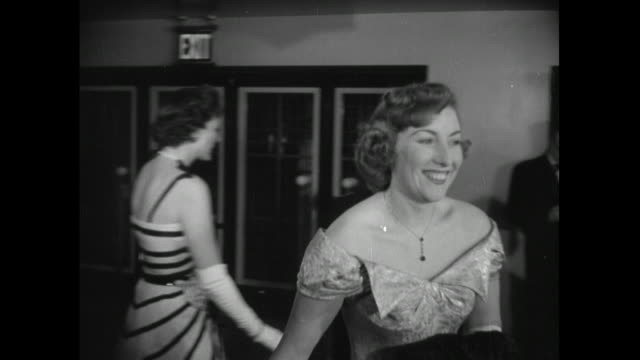 dame vera lynn arriving at the radio and television awards at grovesner house, london, 1950 - 1950 stock videos & royalty-free footage