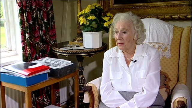 dame vera lynn interview; england: west sussex: ditchling: int dame vera lynn interview sot - discusses release of new collection of her famous... - west sussex stock videos & royalty-free footage