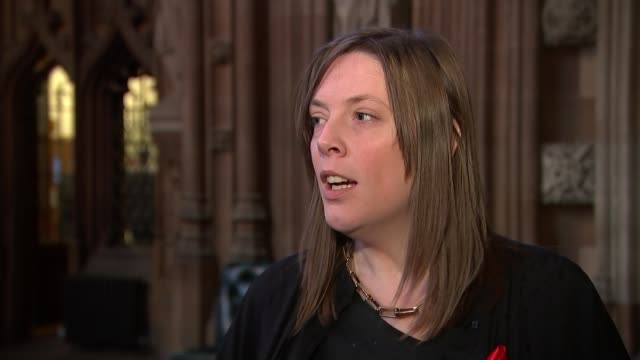 Damian Green denies pornography allegations DUSK St Stephen's Hall entrance at Houses of Parliament TILT Jess Phillips MP interview SOT EXT Damian...