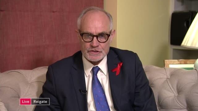 Damian Green denies pornography allegations ENGLAND London GIR Reigate 2 WAY interview from Reigate SOT