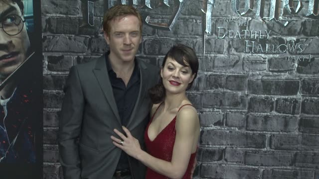 damian lewis and helen mccrory at the launch event for the home entertainment release of harry potter and the deathly hallows- part 1 at new york ny. - ヘレン マックローリー点の映像素材/bロール