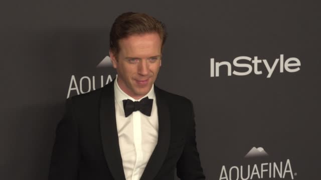 damian lewis at 17th annual instyle and warner bros. pictures golden globe after-party at the beverly hilton hotel on january 10, 2016 in beverly... - 俳優 ダミアン・ルイス点の映像素材/bロール