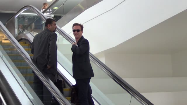 Damian Lewis departing at LAX Airport in Celebrity Sightings in Los Angeles