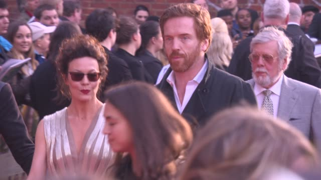 broll damian lewis helen mccrory at 'a little chaos premiere' at odeon kensington on april 13 2015 in london england - odeon cinemas stock videos & royalty-free footage