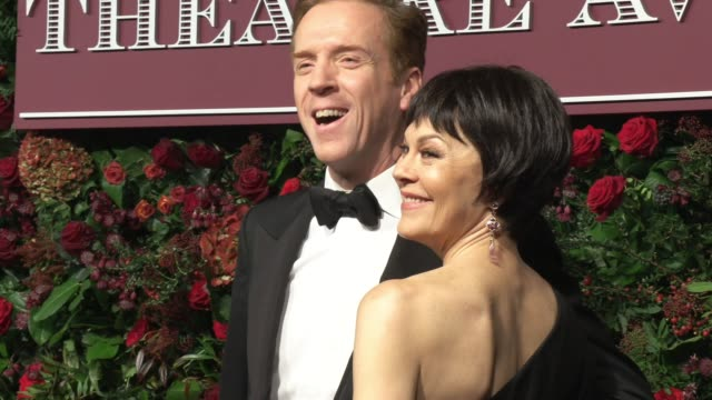 damian lewis, helen mccrory at the 65th evening standard theatre awards 2019 in association with michael kors at on november 24, 2019 in london,... - ヘレン マックローリー点の映像素材/bロール