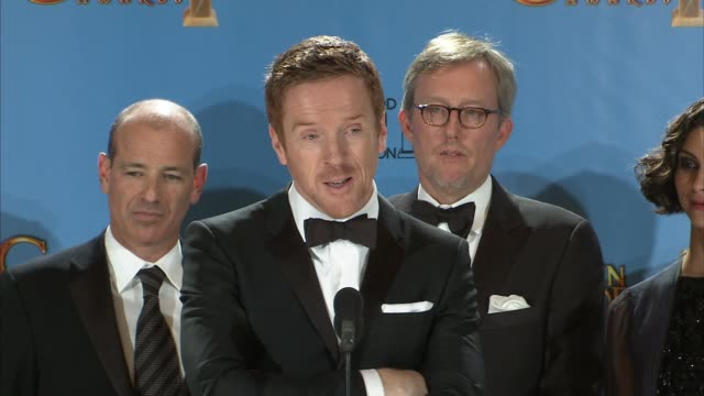 SPEECH Damian Lewis on how he gets into the moment of the interrogation scene at 70th Annual Golden Globe Awards Press Room 1/13/2013 in Beverly...