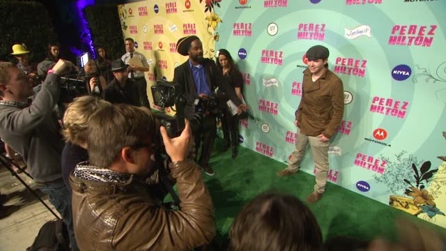 damian mcginty at perez hilton's mad hatter tea party birthday celebration on 3/24/2012 in los angeles ca - mad hatter stock videos and b-roll footage